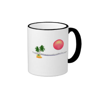 Beach Landscape Ringer Coffee Mug