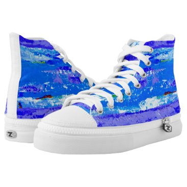 Beach Themed Beach Landscape Sneakers