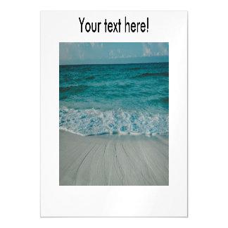 Beach landscape magnetic invitations