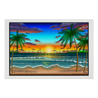 Beach Lanscape scenery one cratemade poster large