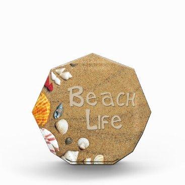Beach Themed Beach Life Acrylic Award