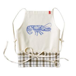 Beach Life Blue Lobster on Cream Zazzle HEART Apron