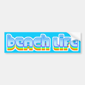 Beach Life Car Bumper Sticker