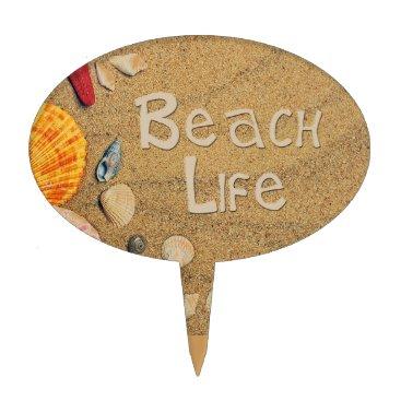 Beach Themed Beach Life Cake Topper
