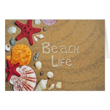 Beach Themed Beach Life Card
