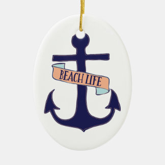 Beach Life Ceramic Ornament