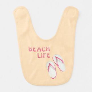 Beach Life Flip Flops Baby Bib