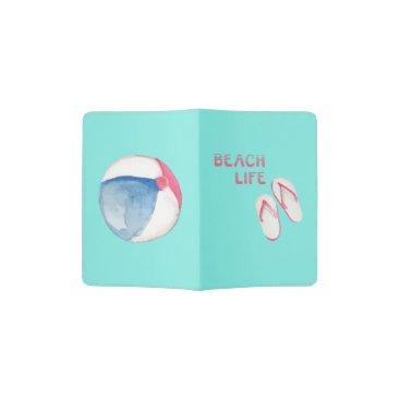 Beach Themed Beach Life Flip Flops Passport Holder