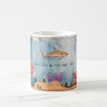 Beach Themed Beach life is the best life coffee mug