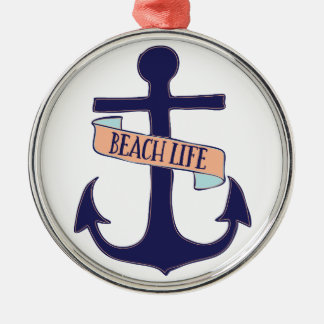 Beach Life Metal Ornament