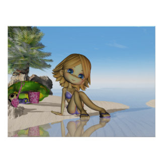 Beach life, moonies little cutie pie collection poster