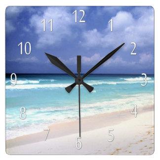 Beach Life Ocean View Clock