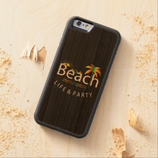Beach Life & Party - Rainbow Style Carved Cherry iPhone 6 Bumper Case