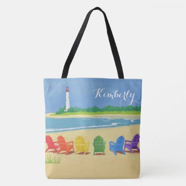 Beach Life Personalized Tote Bag