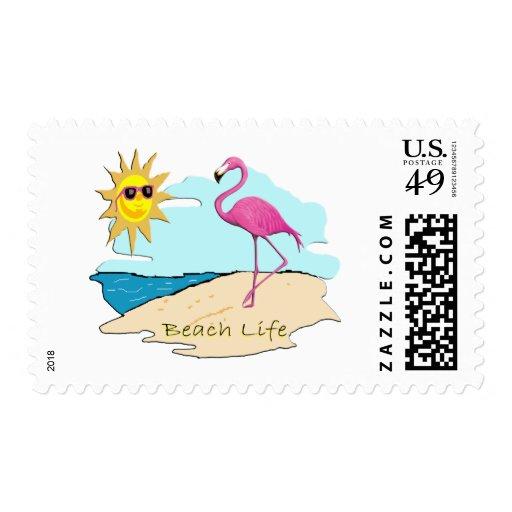 Beach Life Postage Stamp
