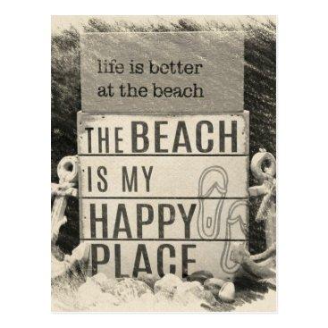 Beach Themed Beach Life Postcard