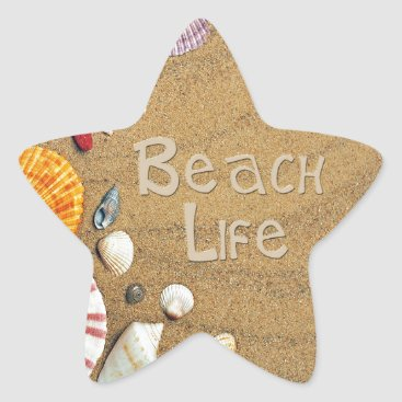 Beach Themed Beach Life Star Sticker