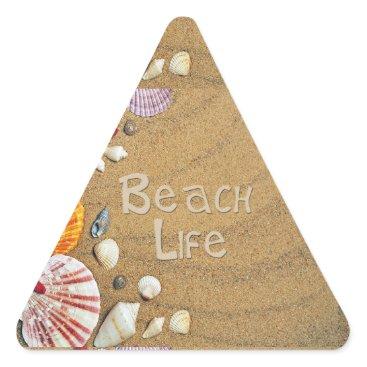 Beach Themed Beach Life Triangle Sticker