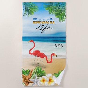 Beach Themed Beach Life - Tropical Beach Towel
