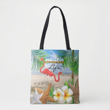 Beach Themed Beach Life - Tropical Tote Bag