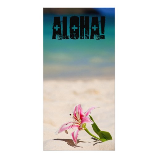 Beach Lily Personalized Photo Card