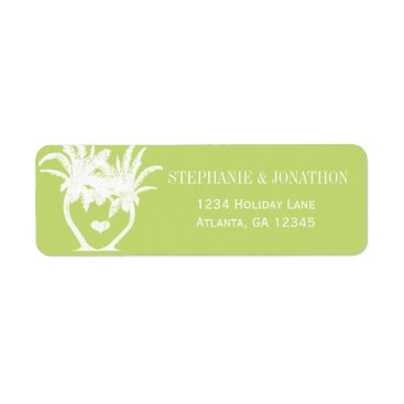 Beach Themed Beach Lime Green Palm Tree Destination Chalkboard Label