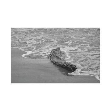 Beach Themed Beach log canvas print