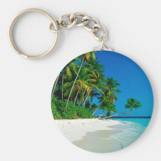 Beach Lost Paradise Keychain