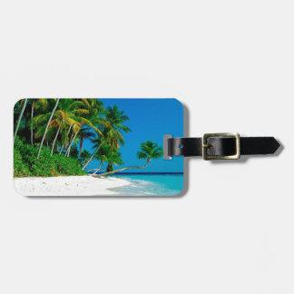 Beach Lost Paradise Travel Bag Tag