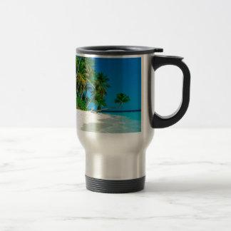 Beach Lost Paradise Travel Mug