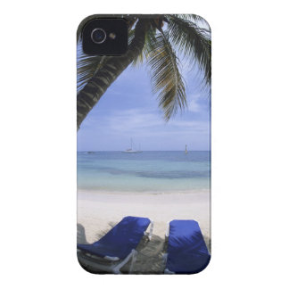 Beach, Lounge Chair, Palm tree, Horizon Over iPhone 4 Cover