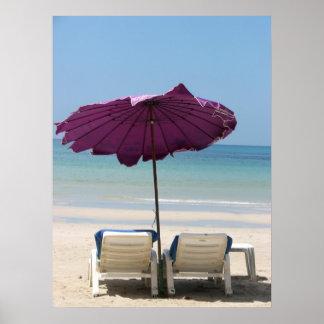 Beach Lounge Poster