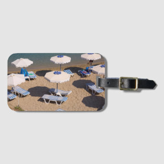 Beach Lounge | Rhodes, Dodecanese Islands, Greece Luggage Tag