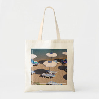 Beach Lounge | Rhodes, Dodecanese Islands, Greece Tote Bag