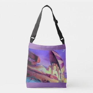 beach lounging mermaid lavender tote bag