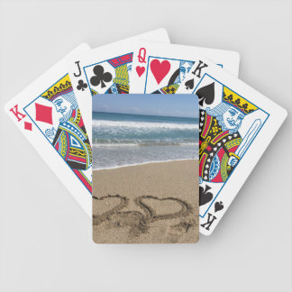 Beach Love Bicycle Playing Cards