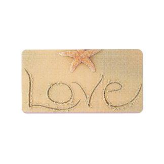 Beach Love Labels