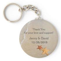 Beach Love Personalized Key Ring Wedding Favor