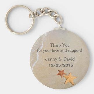 Beach Love Personalized Key Ring Wedding Favor Basic Round Button Keychain