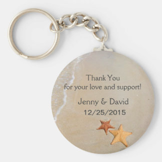 Beach Love Personalized Key Ring Wedding Favor Keychain