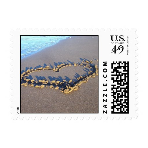Beach Love Postage Stamps