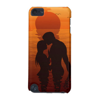 Beach Love Romance Silhouette Couple In The Sea iPod Touch (5th Generation) Cover