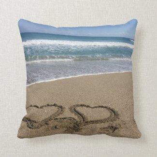 Beach Love Throw Pillow