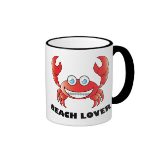 Beach Lover - Black 11 oz Ringer Mug