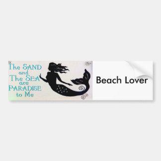 beach lover bumper sticker