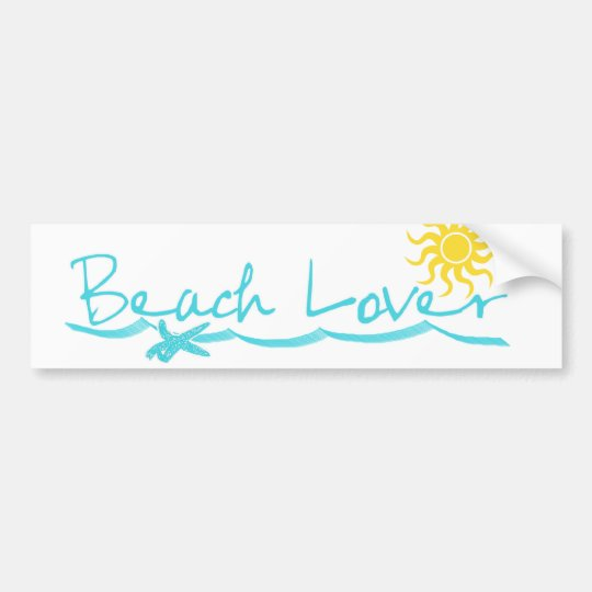 Beach Lover Bumper Sticker