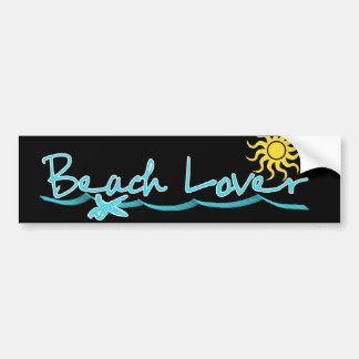 Beach Lover Car Bumper Sticker