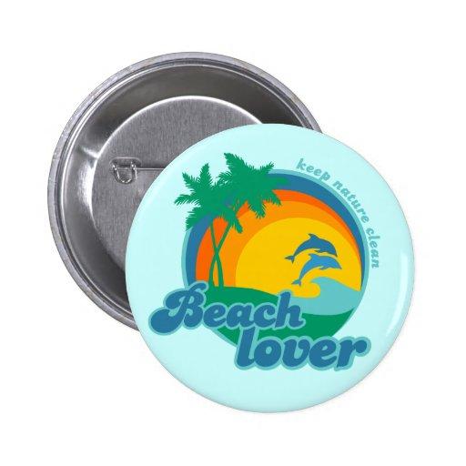 Beach Lover button