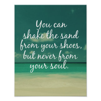 Beach Lovers Quote Print
