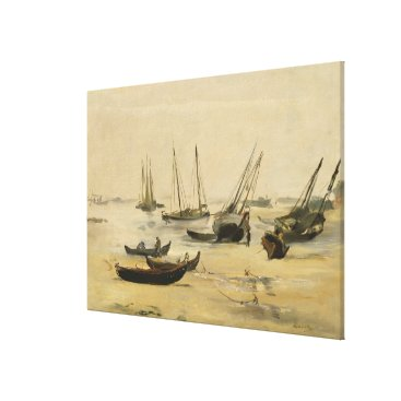 Art Themed Beach, Low Tide Canvas Print